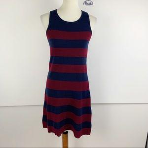 Loft Ann Taylor Striped Sleeveless Dress SM  D1292